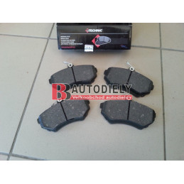 VW CADDY 10/95-2/04- Predné platničky, sada /PROTECHNIC/