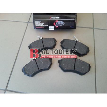 VW CADDY 10/95-2/04- Přední brzdové destičky sada /PROTECHNIC/