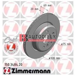 BMW 5 F10 3/2010- Zadné kotúče, Sada /ZIMMERMANN/- 330mm
